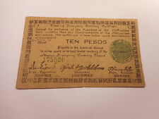 Philippines Emergency Currency Negros Occidental WWII Ten Pesos Nice - # 175920