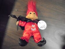 "RUSS "" Red Hot Stuff Devil"" With Red Hair"" Troll Doll 6"""
