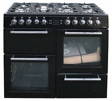 Leisure 100 cm Dual Fuel Range Cooker AL100F230K 7 Burner 2 Ovens Black #1908