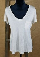 Fossil women's Small V-Neck T-Shirt pocket