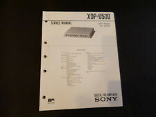 ORIGINALI service manual Sony xdp-u50d