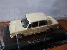 RBA18M voiture 1/43 RBA Italie IXO : FIAT 124 crème 1968