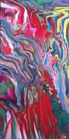 Original Canvas Acrylic Flow Art By NYC Street Artist LaurenEve Unsigned