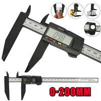 8inch LCD Digital Caliper Electronic Gauge Carbon Fiber Vernier Micrometer Ruler