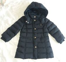 ARMANI Baby Infant Toddler Girl Long Black Winter Puffer Jacket (24 Months)