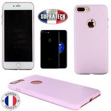 Coque Arrière de Protection en Simili Cuir Rose pour Apple iPhone 7 Plus