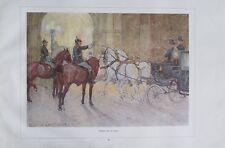 Auffahrt bei der Oper von Ludwig Koch - Kunstblatt aus 1924 alter Druck