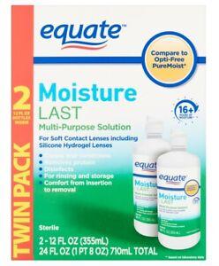 Opti Free Comparison Equate Moisture Last Soft Lens Contact Solution 12oz 2Pack