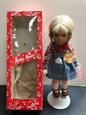 "14"" Vintage Kathe Kruse Doll ""Rosl"" 1977Painted Eyes Blonde Germany Mint W/ BoxS"