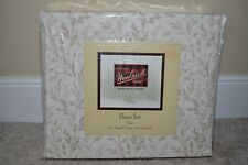 NEW in package Woolrich Twin Sheet Set 100% Cotton 250 Thread Count