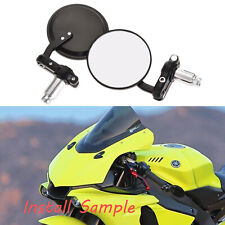 """7/8"""" Motorcycle Rear View Handle Bar Mirrors For 2015 2016 2017 Yamaha YZF R1 R6"""
