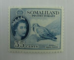 c1950 Somaliland SC #133 ROCK PIGEON MH stamp