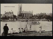 c1909 - Hampton on Thames - showing rowing team getting in boat