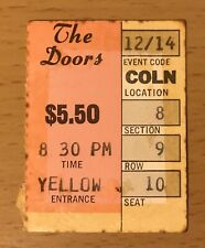1968 The Doors Los Angeles Forum Concert Ticket Stub Jim Morrison The End  00004000 8 9 10