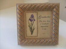 Grandmother's Picture Poem Framed under Glass in Gold Frame by Artist Kathy Seek