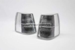 Volvo 940 91-98 Clear Front Indicators Repeaters Pair Set Driver Passenger