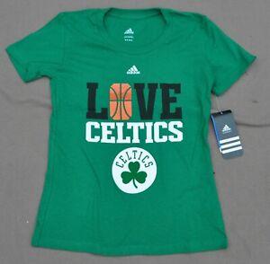 LOVE Boston Celtics ADIDAS NBA Green Youth Tshirt NWT 7 8 10 12 14 S M L NWT