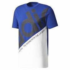 Adidas Originals HOMBRE Pete Camiseta Clásica Azul Cuello Redondo 90S Retro