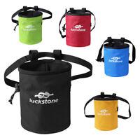 Adjustable Waist Belt Chalk Bag Drawstring Storage Pouch for Rock Climbing Gym