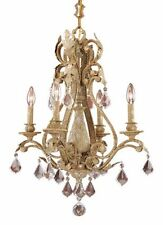 Phoenician Platinum Gold And Crystal Accents 4 Light Chandelier