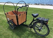 Cargo Box Bike Bakfiet Bicycle Family Kids Trailer e bike park beach lithium