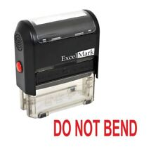 DO NOT BEND - ExcelMark Self Inking Rubber Stamp A1539 - Red Ink