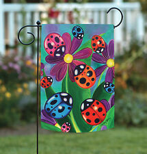 New Toland - Colorful Ladybirds and Ladybugs - Bright Multicolor Bug Garden Flag