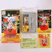 PARODIUS DA Nintendo Super Famicom SFC SNES w/manual box Japan Game