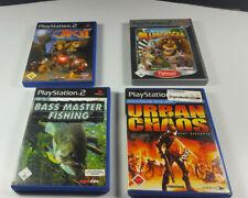 4x PlayStation 2 PS2 Spiele JAK II Urban Chaos Bass Master Fishing PAL Deutsch