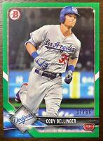 2018 Bowman Cody Bellinger Green 37/99 Los Angeles Dodgers #47