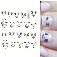 1 Sheet Personalized Diy Cartoon 3d Decal Manicure Sheet Smiling Face Art Nail