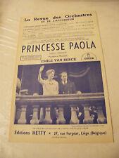 Partition Princesse Paola  Emile Van Herck 1959