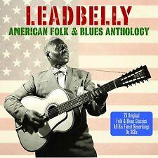 Leadbelly AMERICAN FOLK & BLUES ANTHOLOGY 75 Track BEST ESSENTIAL Music NEW 3 CD