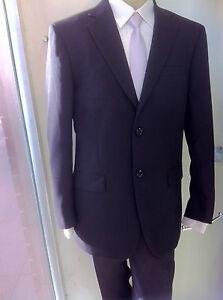 New Mens Business Dress Formal  Wedding School Formal Black Suit