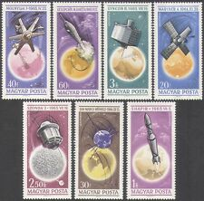 UNGHERIA 1965 spazio/razzi/SATELLITI/Ricerca/Radio/comunicazione 7v Set n34966