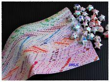 280 strips Origami Paper Shiny Bright Lucky Wish Star Folding DIY Kit 19x0.7 cm.