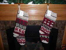 Hand Knit Christmas Stockings 20 Designs Personalize