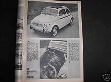 FIAT MORETTI 500S,750 E 2500 SS SU 300 ALL'ORA DEL 1964