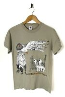 Vintage Graphic T-Shirt Tee Eagles Wolves Native Animals Retro 90s Small USA