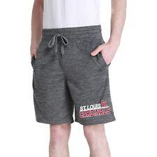 Men's Charcoal St. Louis Cardinals Chip Fleece Jam Shorts