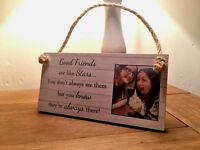 PERSONALISED PHOTO FRIENDSHIP QUOTE CUSTOM MADE PLAQUE SIGN FOR BEST FRIEND GIFT