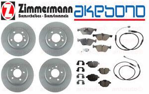 Zimmermann+Akebono Brake Kit BMW F10 528i + 528i XDrive Rotors Pads Sensors