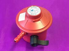 Gas LPG Propano de 27 mm 37 mbar clip en regulador Rojo-anillo de ebullición, CAMPING, BARBACOAS