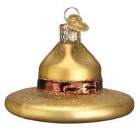 Old World Christmas RANGER HAT (32356)X Glass Ornament w/OWC Box
