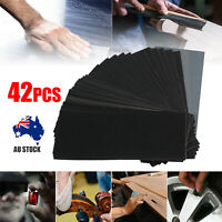 42Pcs 120-3000 Grit Wet Dry Sandpaper Abrasive Sanding Sander Paper Sheets AUS
