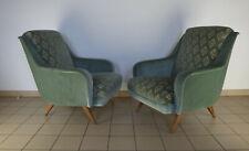 Paire Fauteuils Design Italien 1950 Vintage