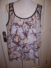 DOROTHY PERKINS BUTTERFLY MULTICOLOUR VEST TOP SIZE 14 EXCELLENT CONDITION