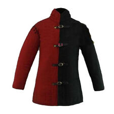 Halloween Gift Medieval Thick Padded Red And Black Gambeson COSTUMES DRESS SCA