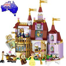 New Disney Beauty and The Beast Castle Lego Princess Belle Educational Kids Toy