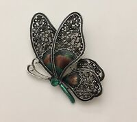 Vintage Style Large  Butterfly Brooch  enamel on  Metal